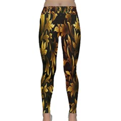 Loral Vintage Pattern Background Classic Yoga Leggings