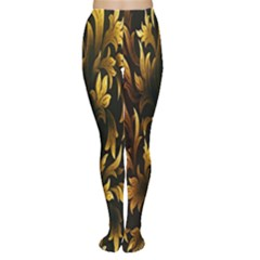 Loral Vintage Pattern Background Women s Tights