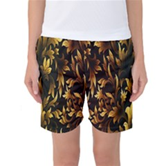Loral Vintage Pattern Background Women s Basketball Shorts