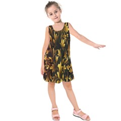Loral Vintage Pattern Background Kids  Sleeveless Dress