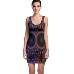 Digital Colored Ornament Computer Graphic Sleeveless Bodycon Dress