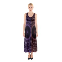 Digital Colored Ornament Computer Graphic Sleeveless Maxi Dress