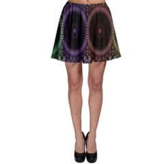 Digital Colored Ornament Computer Graphic Skater Skirt