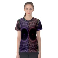 Digital Colored Ornament Computer Graphic Women s Sport Mesh Tee