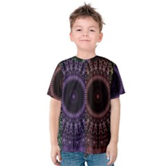 Digital Colored Ornament Computer Graphic Kids  Cotton Tee