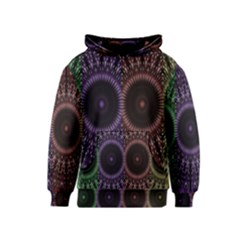 Digital Colored Ornament Computer Graphic Kids  Pullover Hoodie