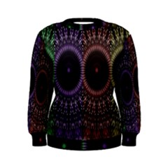 Digital Colored Ornament Computer Graphic Women s Sweatshirt