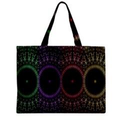 Digital Colored Ornament Computer Graphic Zipper Mini Tote Bag