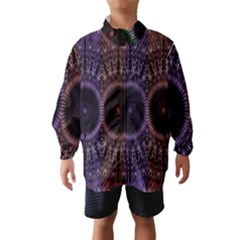 Digital Colored Ornament Computer Graphic Wind Breaker (kids)