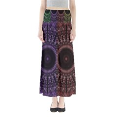 Digital Colored Ornament Computer Graphic Maxi Skirts