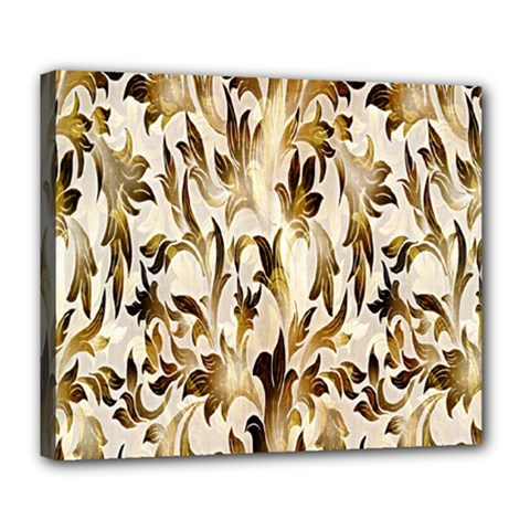 Floral Vintage Pattern Background Deluxe Canvas 24  X 20