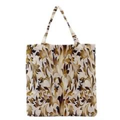 Floral Vintage Pattern Background Grocery Tote Bag