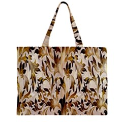 Floral Vintage Pattern Background Zipper Mini Tote Bag