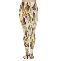 Floral Vintage Pattern Background Women s Tights