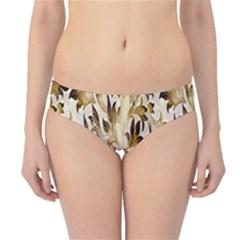 Floral Vintage Pattern Background Hipster Bikini Bottoms