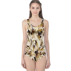 Floral Vintage Pattern Background One Piece Swimsuit