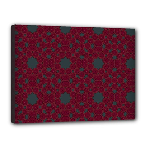 Blue Hot Pink Pattern With Woody Circles Canvas 16  x 12