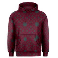 Blue Hot Pink Pattern With Woody Circles Men s Pullover Hoodie