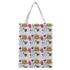 Handmade Pattern With Crazy Flowers Classic Tote Bag