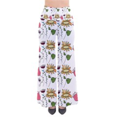 Handmade Pattern With Crazy Flowers Pants