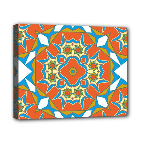 Digital Computer Graphic Geometric Kaleidoscope Canvas 10  x 8