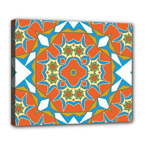 Digital Computer Graphic Geometric Kaleidoscope Deluxe Canvas 24  x 20