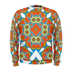 Digital Computer Graphic Geometric Kaleidoscope Men s Sweatshirt
