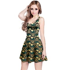 Cowcow Pattern Reversible Sleeveless Dress