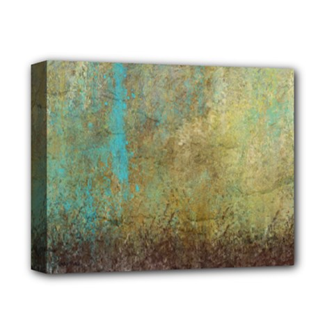 Aqua Textured Abstract Deluxe Canvas 14  x 11
