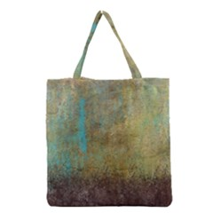 Aqua Textured Abstract Grocery Tote Bag