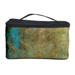Aqua Textured Abstract Cosmetic Storage Case