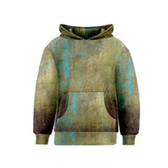 Aqua Textured Abstract Kids  Pullover Hoodie