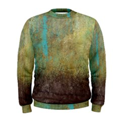 Aqua Textured Abstract Men s Sweatshirt
