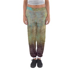 Aqua Textured Abstract Women s Jogger Sweatpants