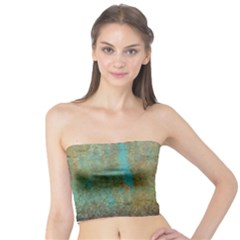 Aqua Textured Abstract Tube Top