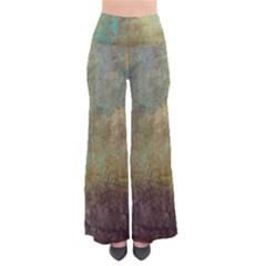 Aqua Textured Abstract Pants
