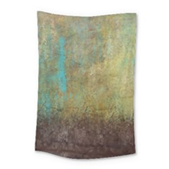 Aqua Textured Abstract Small Tapestry