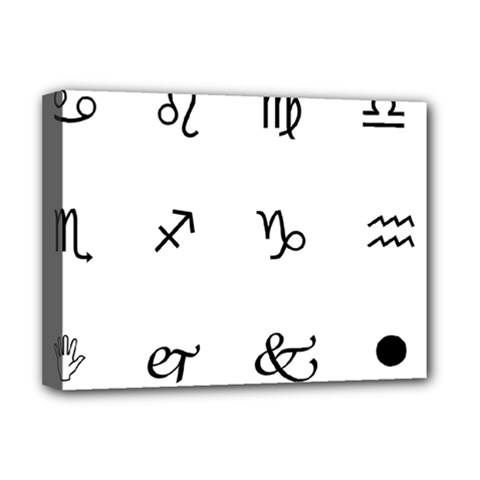 Set Of Black Web Dings On White Background Abstract Symbols Deluxe Canvas 16  x 12