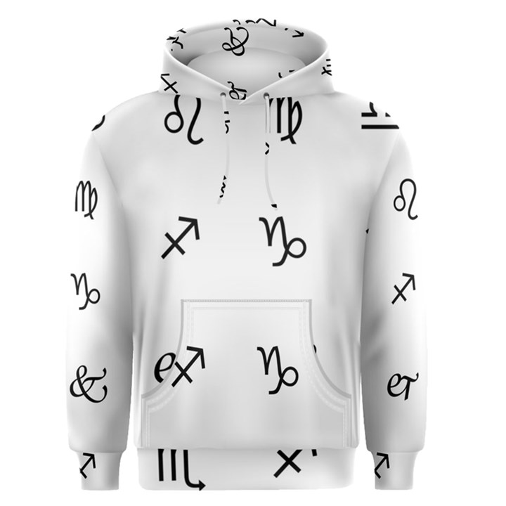 Set Of Black Web Dings On White Background Abstract Symbols Men s Pullover Hoodie