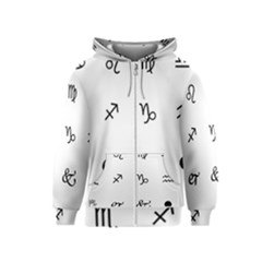 Set Of Black Web Dings On White Background Abstract Symbols Kids  Zipper Hoodie