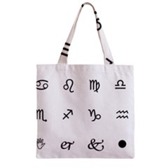 Set Of Black Web Dings On White Background Abstract Symbols Zipper Grocery Tote Bag