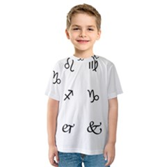 Set Of Black Web Dings On White Background Abstract Symbols Kids  Sport Mesh Tee