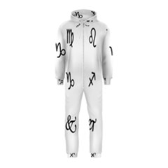 Set Of Black Web Dings On White Background Abstract Symbols Hooded Jumpsuit (kids)