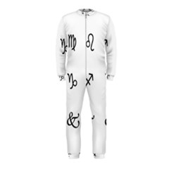 Set Of Black Web Dings On White Background Abstract Symbols Onepiece Jumpsuit (kids)