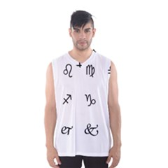 Set Of Black Web Dings On White Background Abstract Symbols Men s Basketball Tank Top