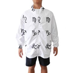Set Of Black Web Dings On White Background Abstract Symbols Wind Breaker (Kids)