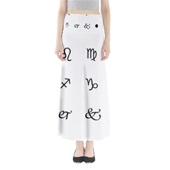 Set Of Black Web Dings On White Background Abstract Symbols Maxi Skirts