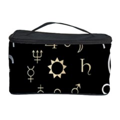 Astrology Chart With Signs And Symbols From The Zodiac Gold Colors Cosmetic Storage Case