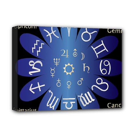 Astrology Birth Signs Chart Deluxe Canvas 16  x 12