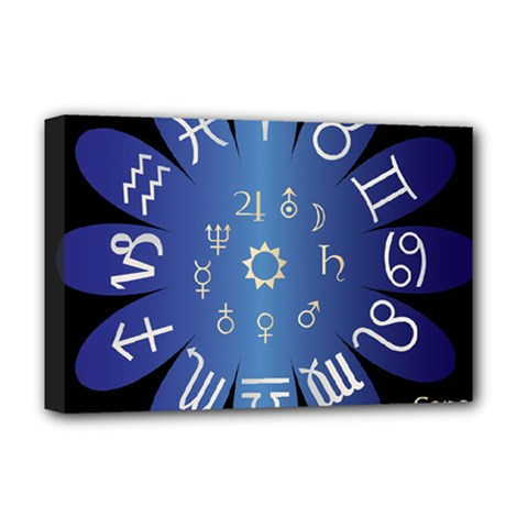 Astrology Birth Signs Chart Deluxe Canvas 18  x 12